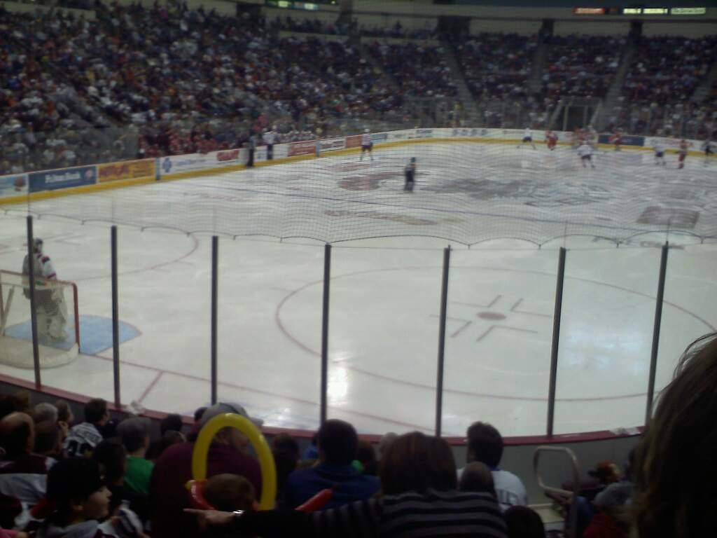 Giant Center Section 102 Row k Seat 4