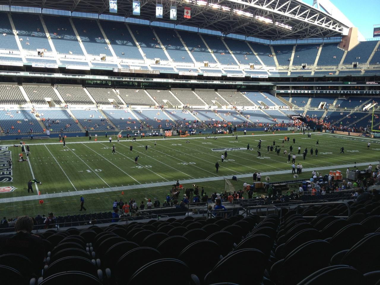 View From Club Section 239 at CenturyLink Field
