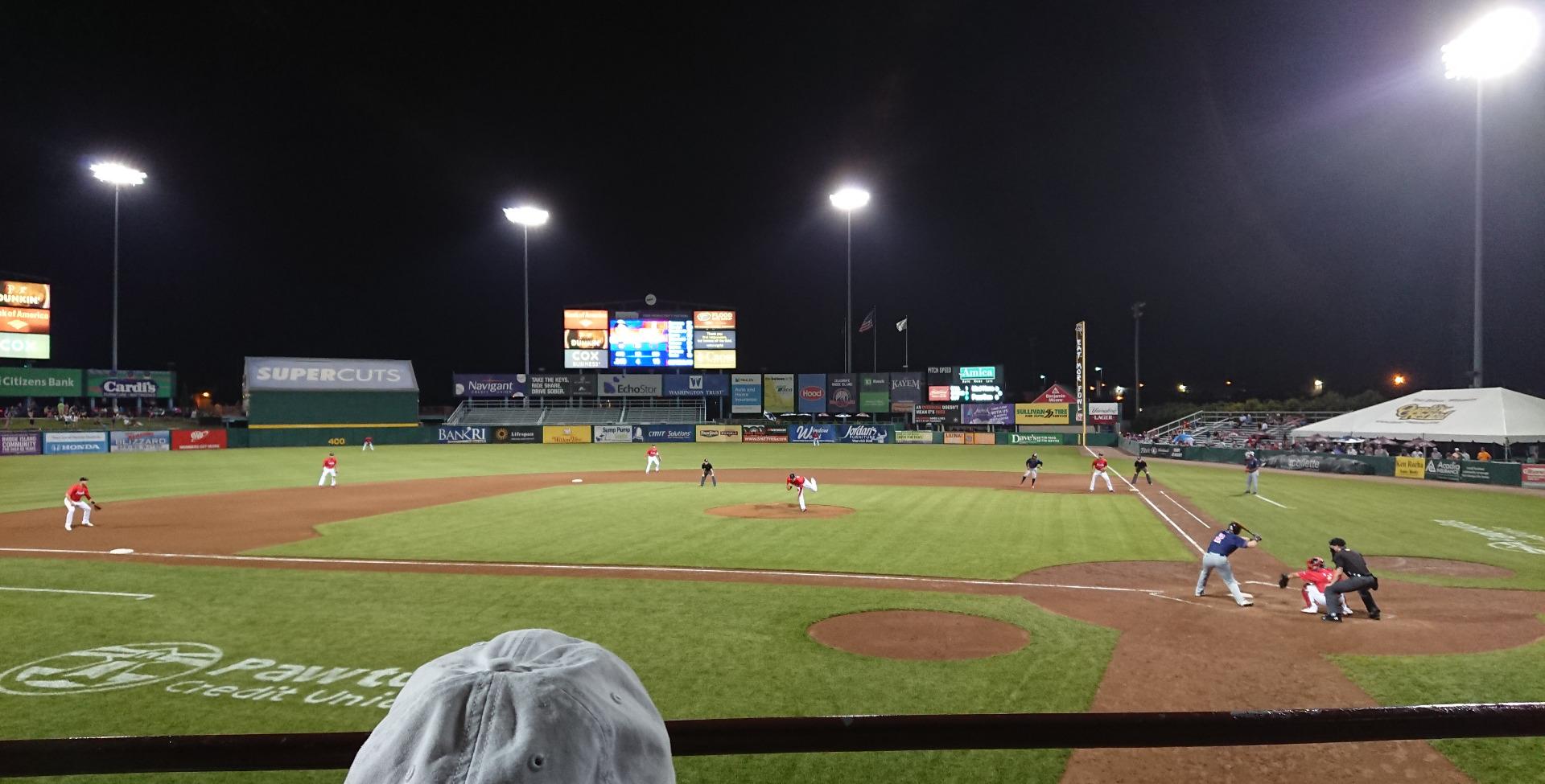 McCoy Stadium Section 9 Row B Seat 1