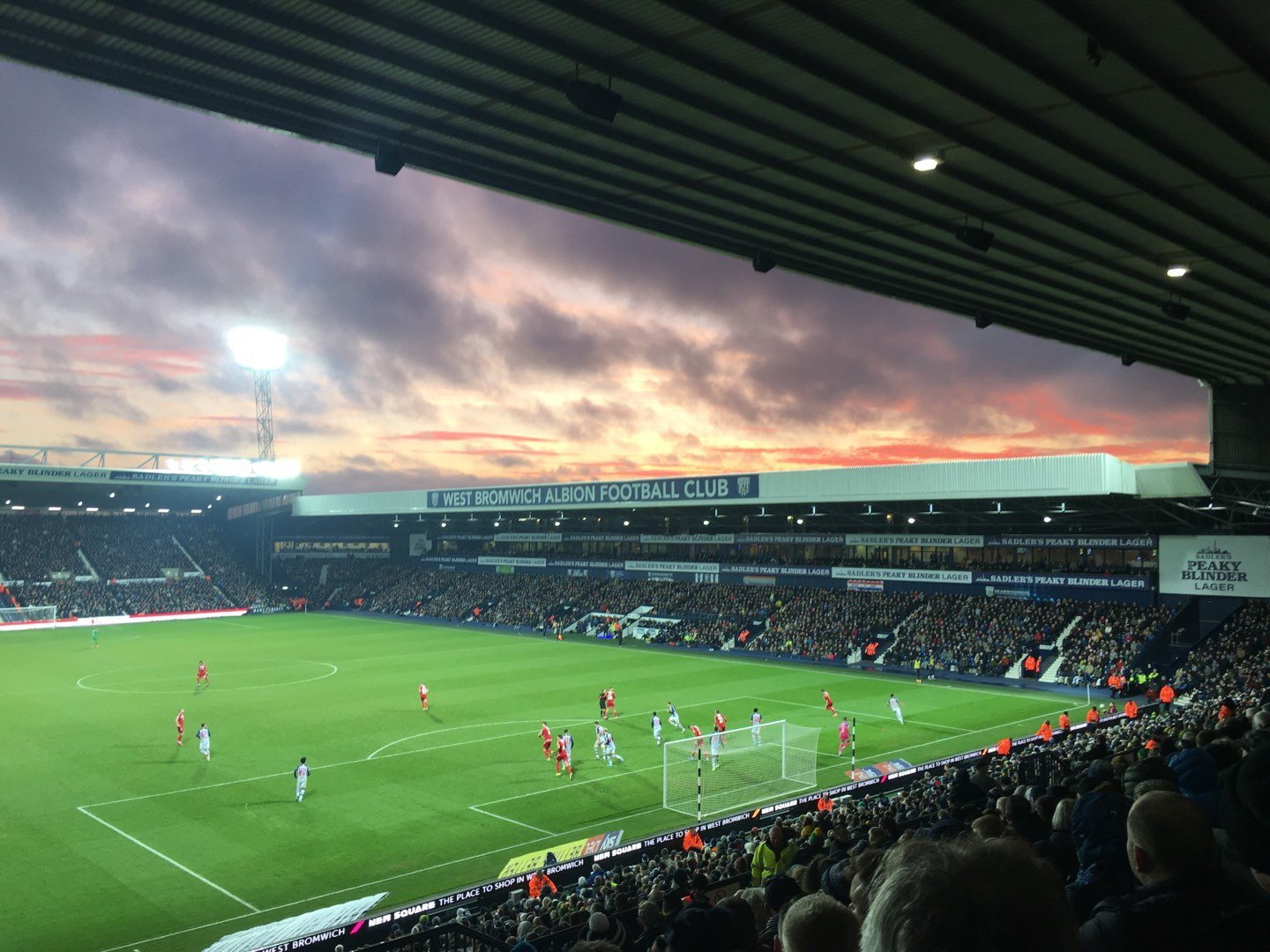The Hawthorns Section E7 Row VV Seat 165