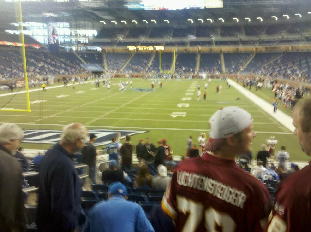 Ford Field Section 118 Row 17 Seat 12