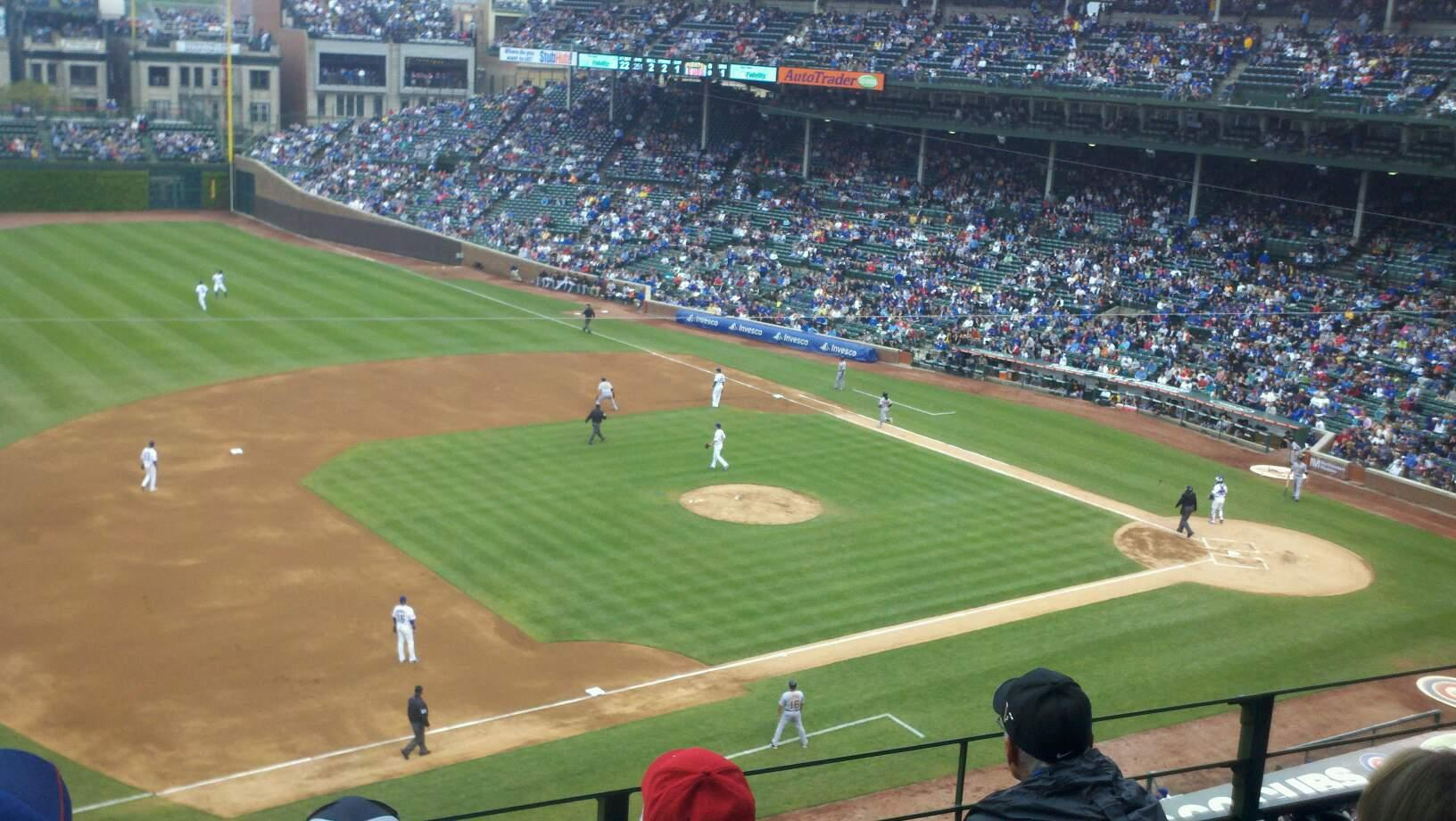 Wrigley Field Section 409 Row 4 Seat 11