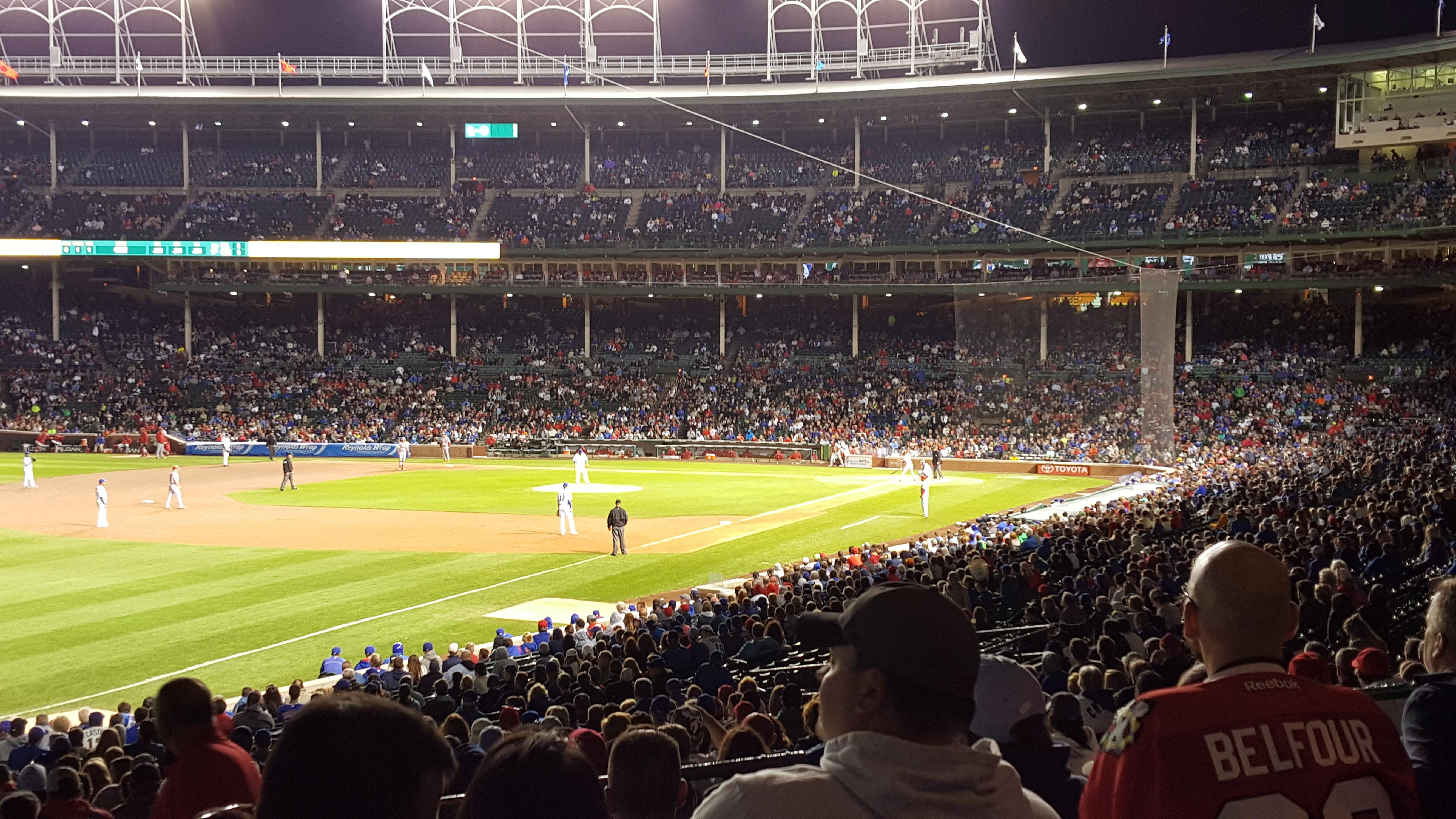 Wrigley Field section 204 row 7 seat 106 - Chicago Cubs vs ...