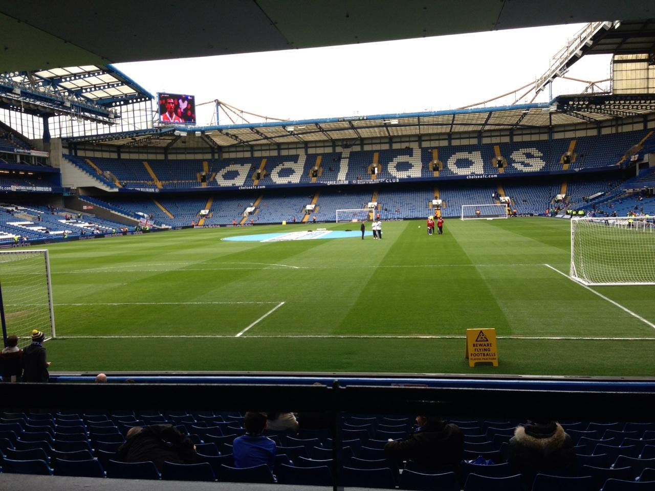 Stamford Bridge Section The Shed End lower Row 15 Seat 79