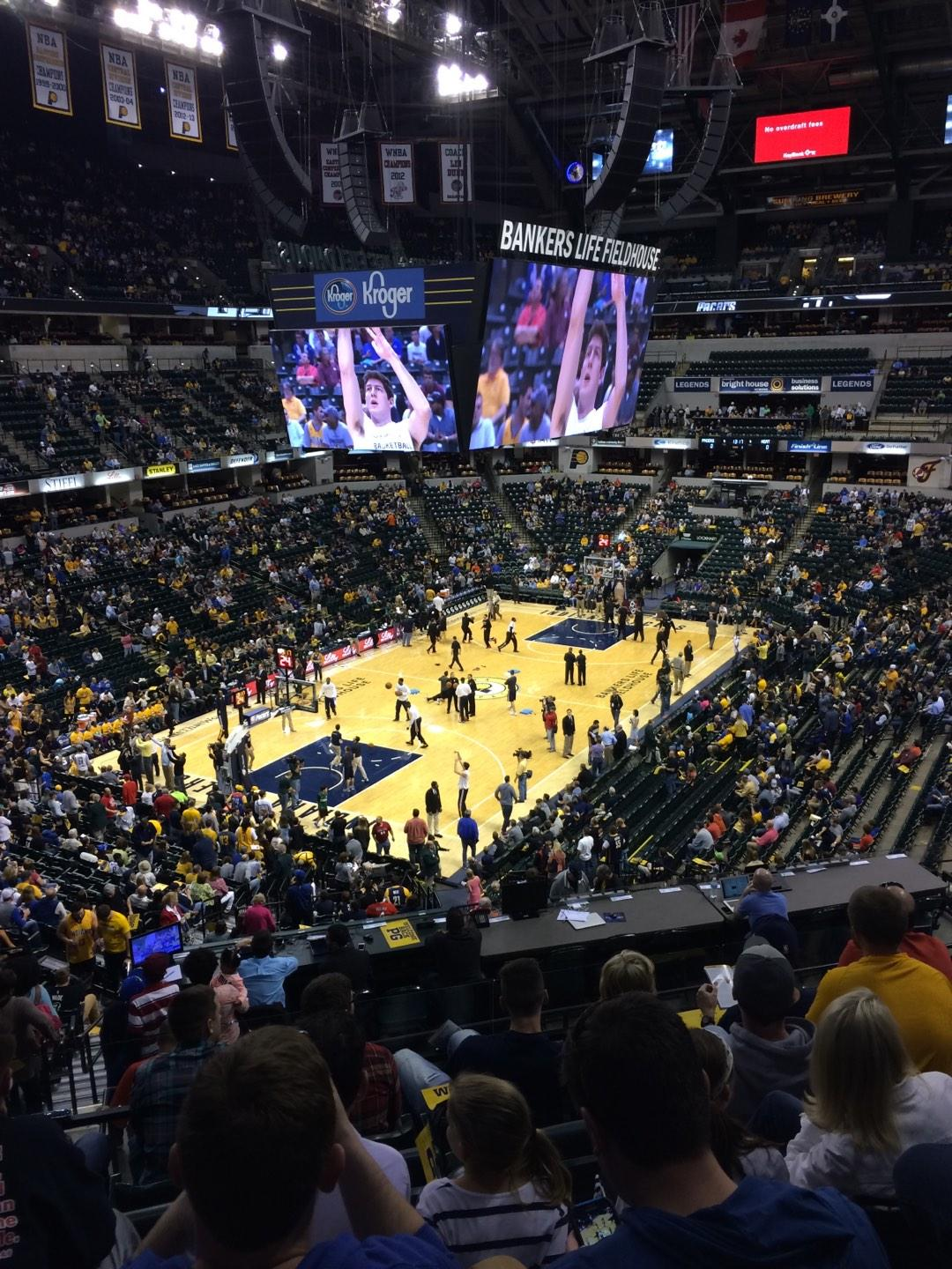 Bankers Life Fieldhouse Section 19 Row 35 Seat 14