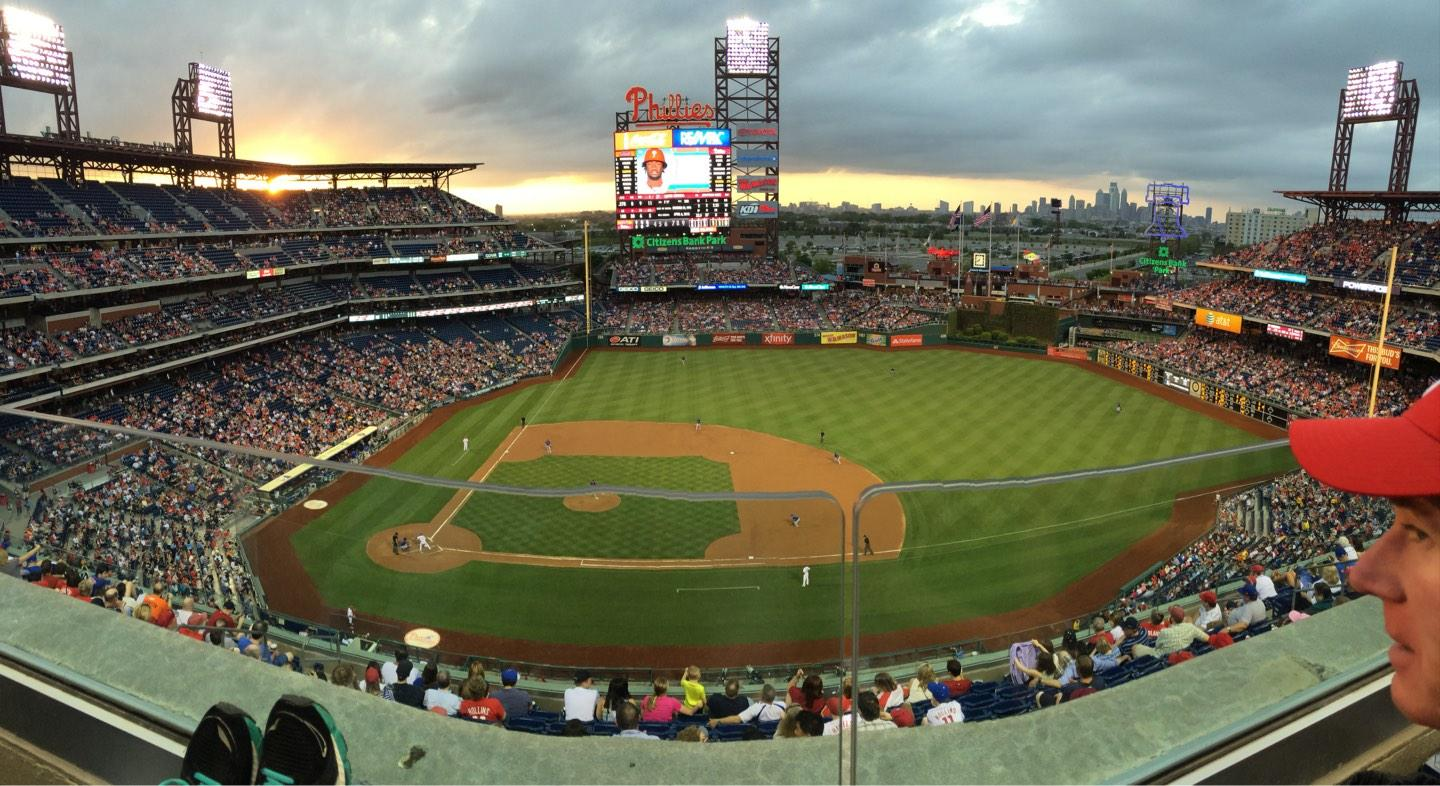 Citizens Bank Park Section 415 Row 1 Seat 16