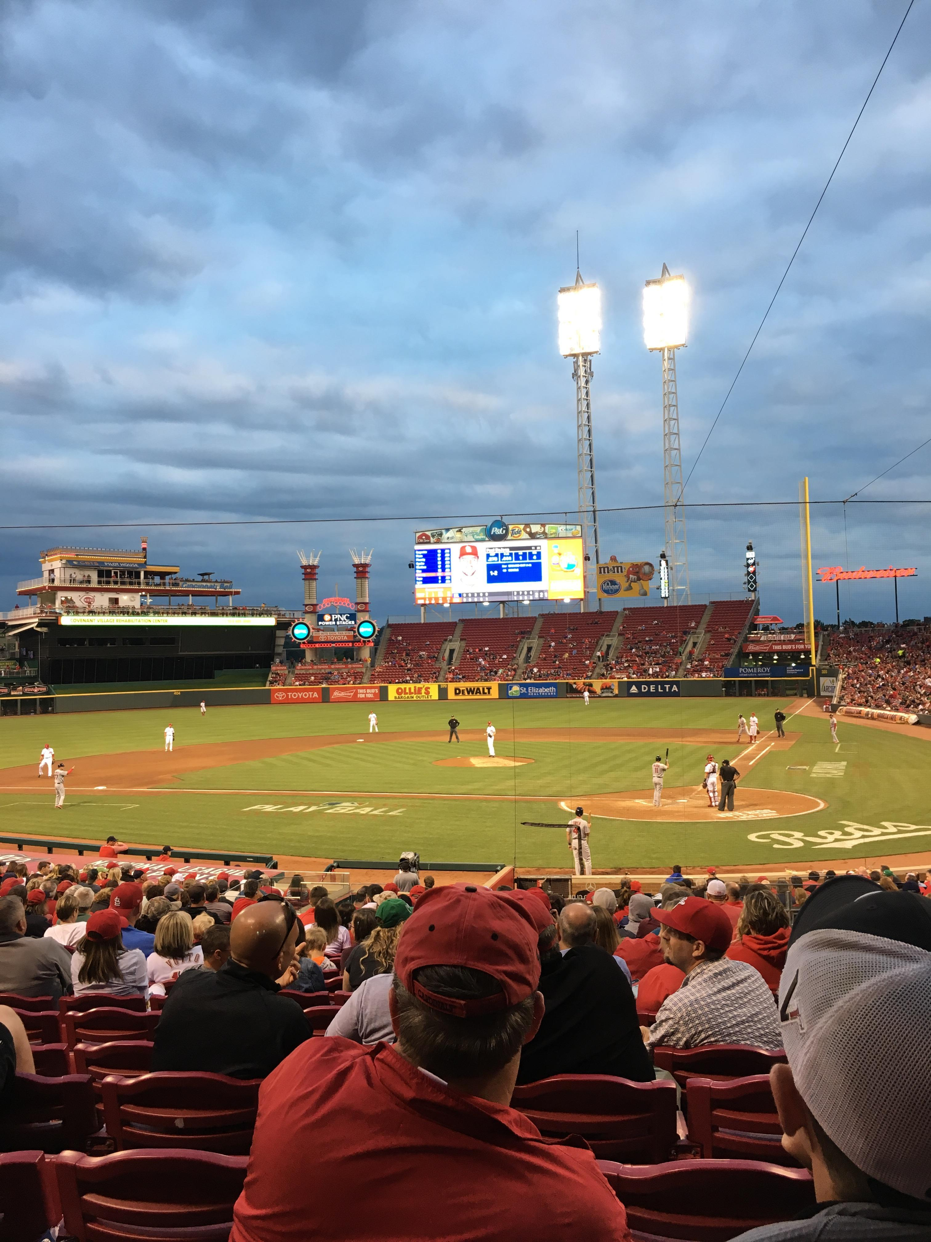 Great American Ball Park Section 120 Row CC Seat 7