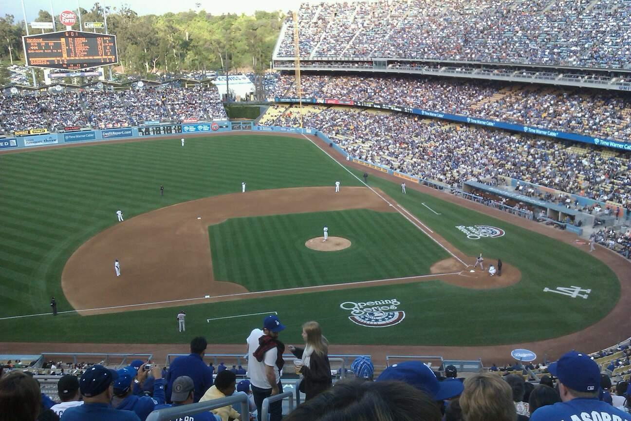 Dodger Stadium Section 15RS Row L Seat 19