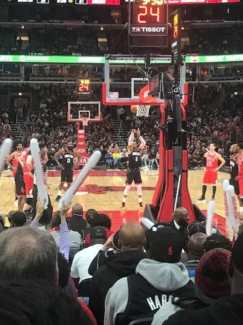 United Center Section 117 Row K Seat 1
