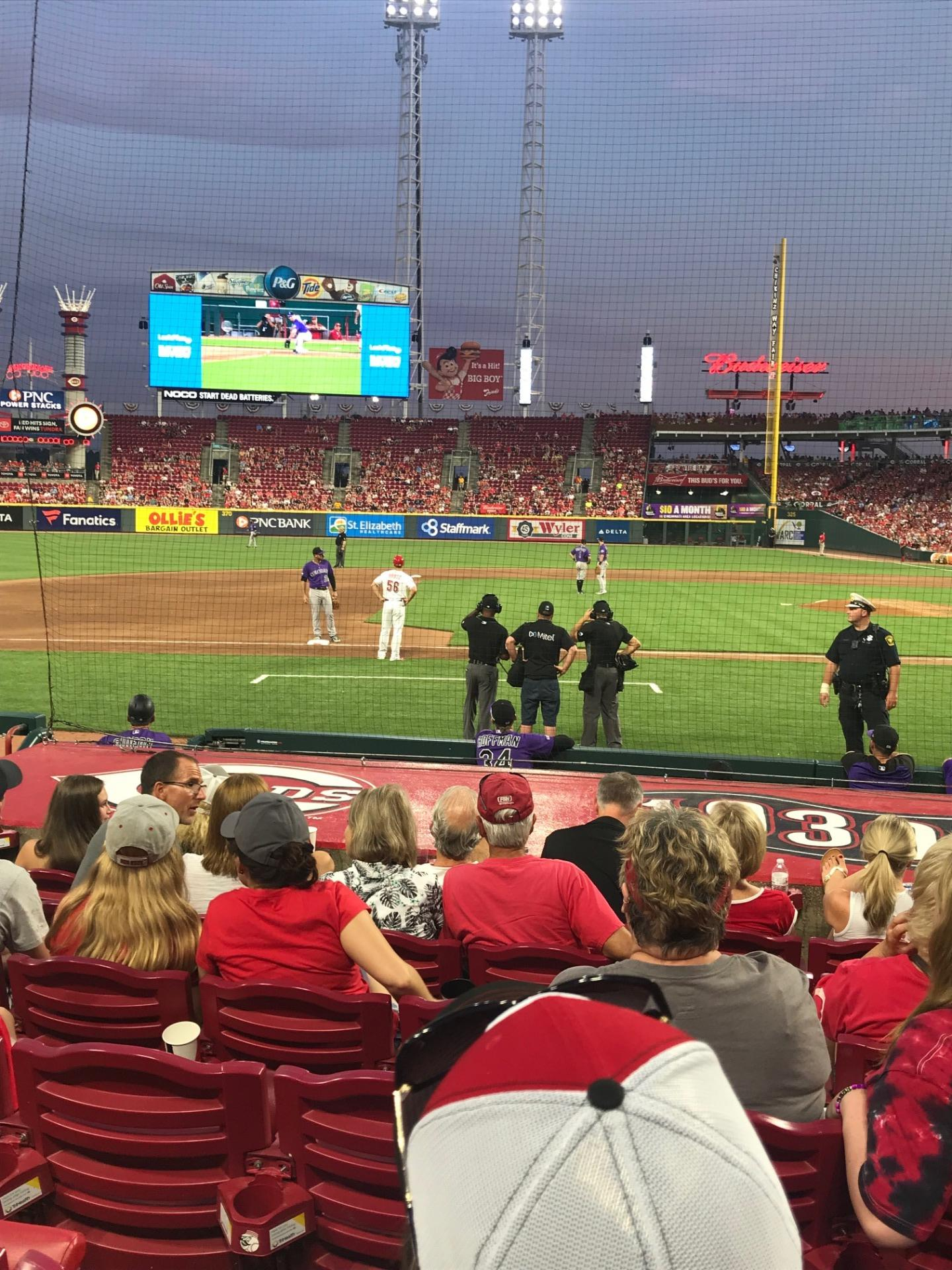Great American Ball Park Section 116 Row 6 Seat 5