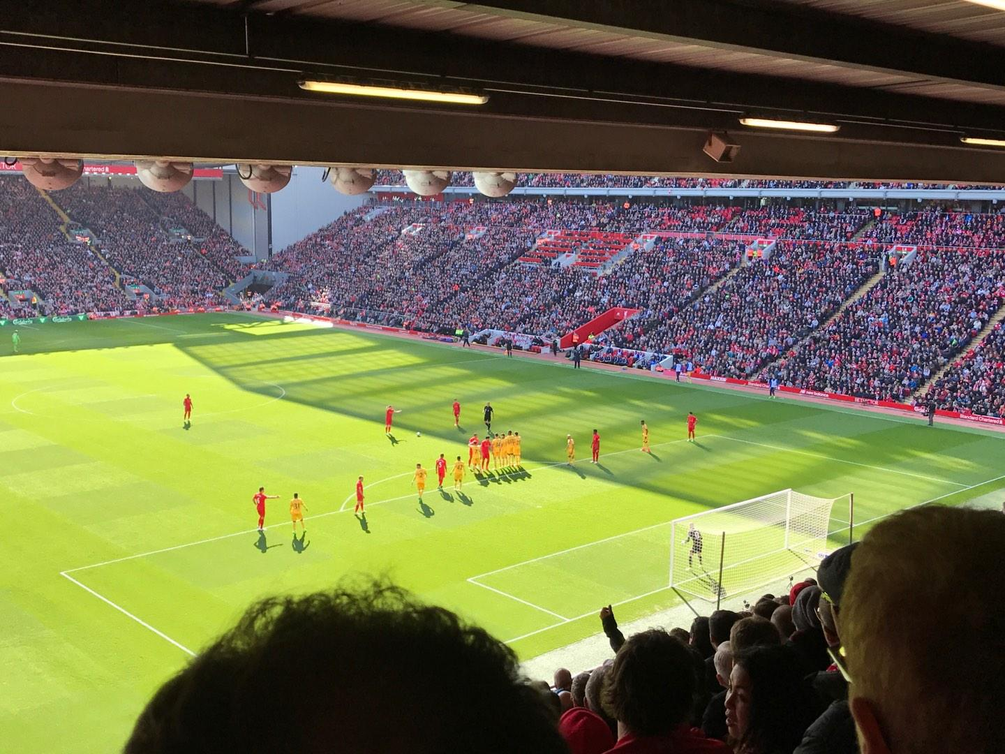 Anfield Section 227 Row 12 Seat 184