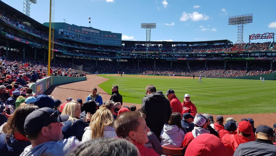 Fenway Park,  Section <strong>208</strong>, Row <strong>J</strong>, Seat <strong>8</strong>
