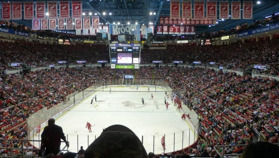 Joe Louis Arena,  Section <strong>8</strong>, Row <strong>15</strong>, Seat <strong>9</strong>