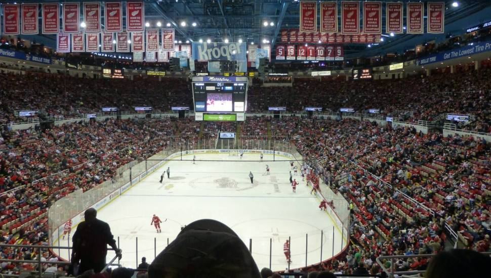 Joe Louis Arena,  Section <strong>8</strong>, Row <strong>15</strong>, Seat <strong>9</strong>