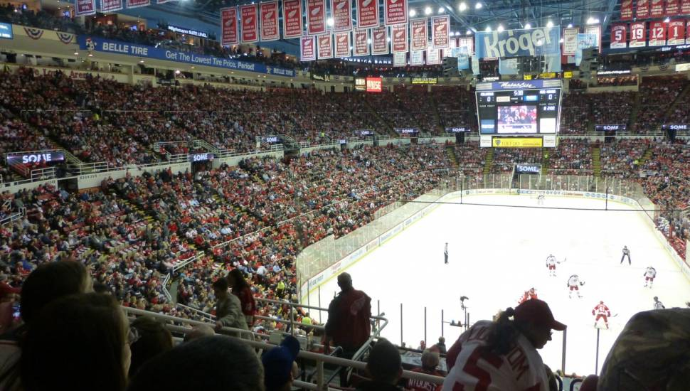 Joe Louis Arena,  Section <strong>522</strong>, Row <strong>G</strong>, Seat <strong>13</strong>