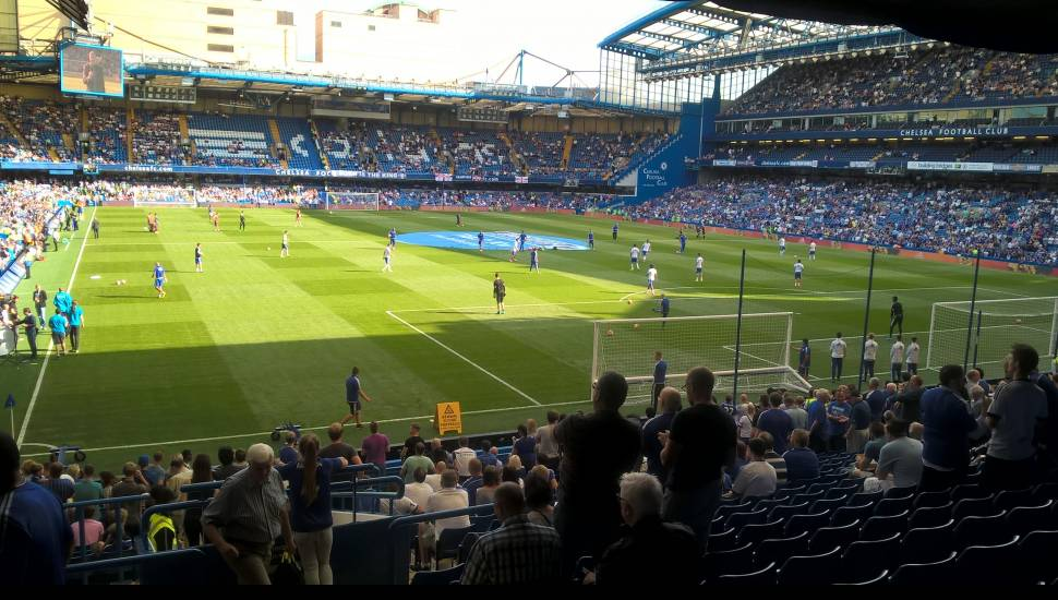 Stamford Bridge,  Section <strong>L23</strong>, Row <strong>1</strong>, Seat <strong>6</strong>