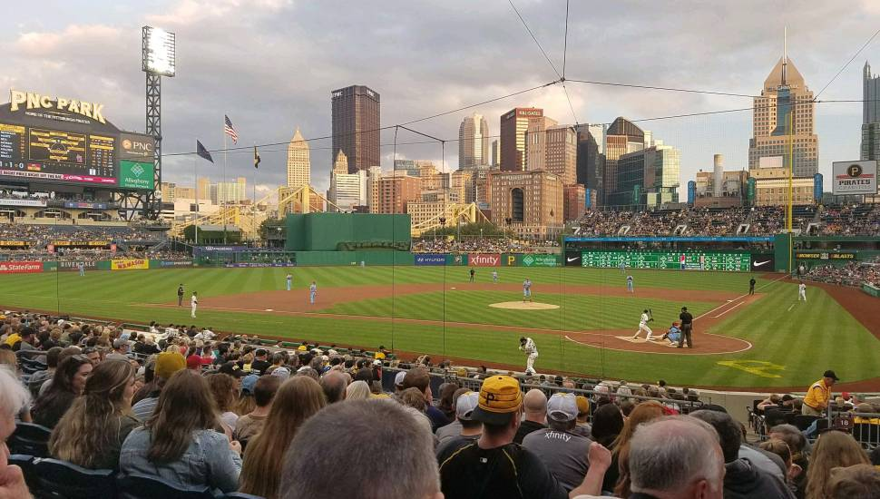 PNC Park,  Section <strong>117</strong>, Row <strong>43</strong>, Seat <strong>12</strong>