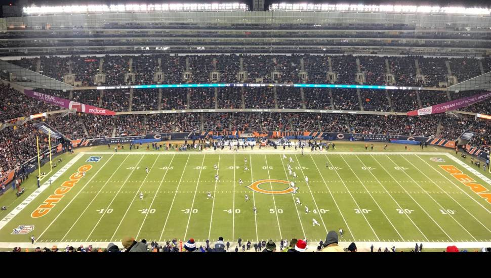 Soldier Field,  Section <strong>A</strong>, Row <strong>33</strong>, Seat <strong>43</strong>