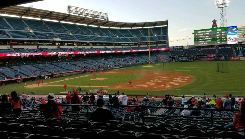 Angel Stadium,  Section <strong>E132</strong>, Row <strong>CC</strong>, Seat <strong>20</strong>