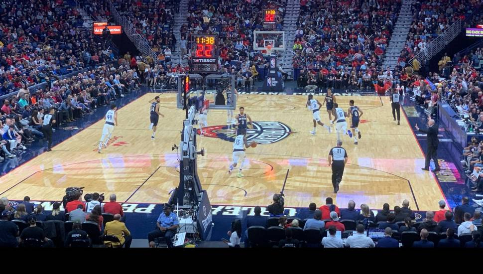Smoothie King Center,  Section <strong>Orchestra 6</strong>, Row <strong>WW</strong>, Seat <strong>611</strong>