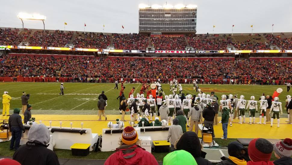 Jack Trice Stadium,  Section <strong>43FD</strong>, Row <strong>C</strong>, Seat <strong>6</strong>