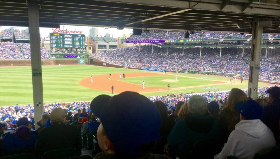 Wrigley Field,  Section <strong>228</strong>, Row <strong>8</strong>, Seat <strong>7</strong>