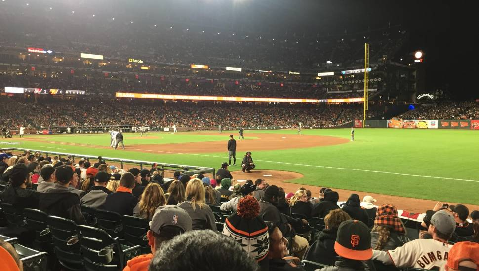 AT&T Park,  Section <strong>524BR</strong>, Row <strong>22</strong>, Seat <strong>9</strong>