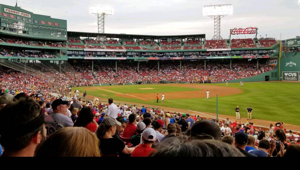 Fenway Park,  Section <strong>Loge 14</strong>, Row <strong>3</strong>, Seat <strong>10</strong>
