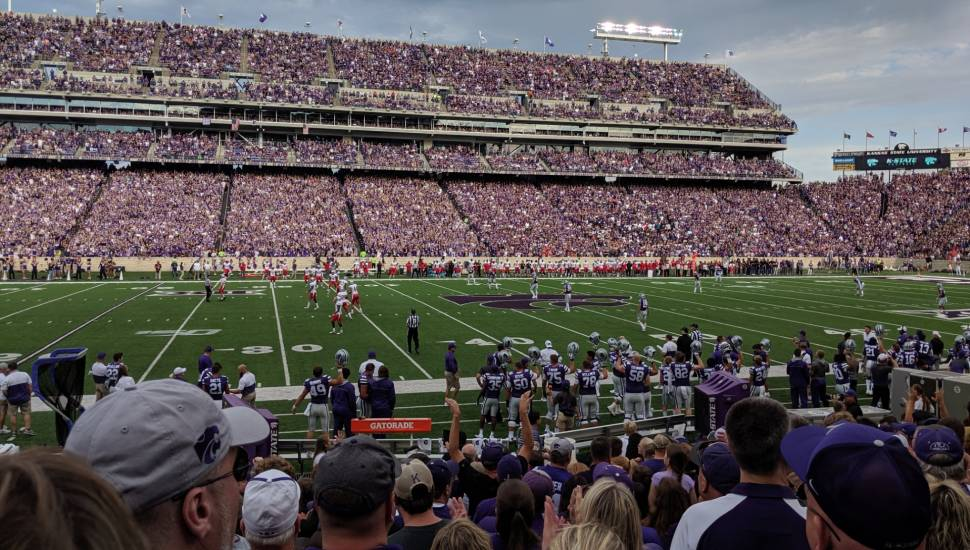 Bill Snyder Family Stadium,  Section <strong>119</strong>, Row <strong>L</strong>, Seat <strong>8</strong>