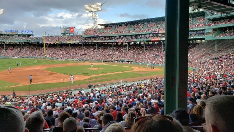 Fenway Park,  Section <strong>333</strong>, Row <strong>1</strong>, Seat <strong>7</strong>