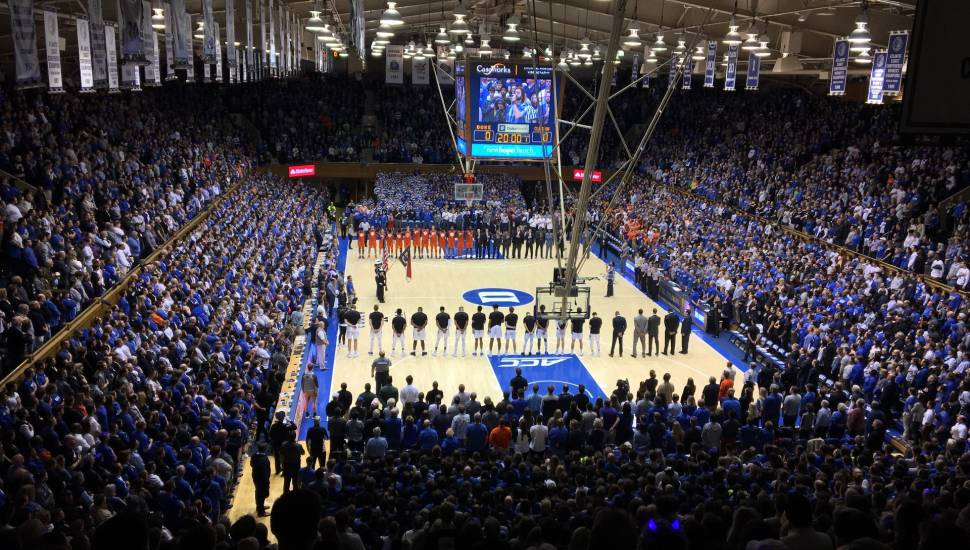 Cameron Indoor Stadium,  Section <strong>VR314</strong>, Row <strong>12</strong>, Seat <strong>28</strong>