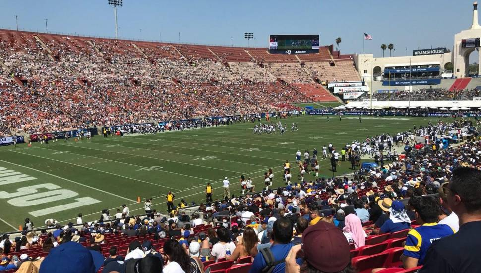 Los Angeles Memorial Coliseum,  Section <strong>113</strong>, Row <strong>M</strong>, Seat <strong>11</strong>