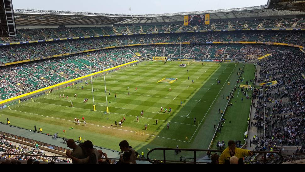 Twickenham Stadium,  Section <strong>107</strong>, Row <strong>1</strong>, Seat <strong>13</strong>
