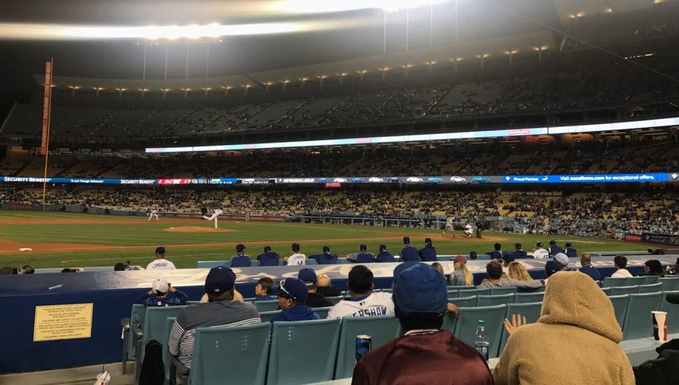 Dodger Stadium,  Section <strong>106</strong>, Row <strong>21</strong>, Seat <strong>1</strong>