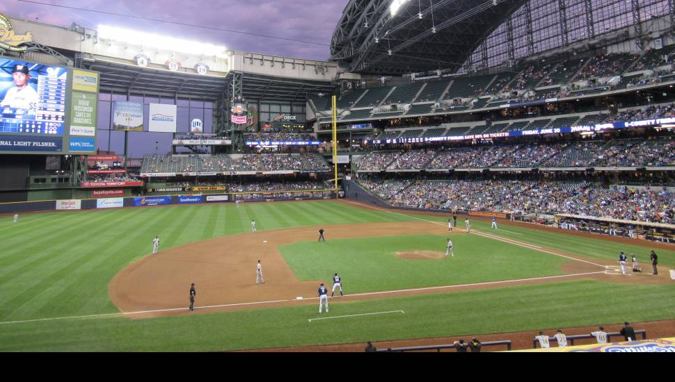 Miller Park,  Section <strong>210</strong>, Row <strong>11</strong>, Seat <strong>1</strong>