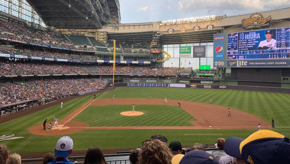 Miller Park,  Section <strong>103</strong>, Row <strong>M</strong>, Seat <strong>15</strong>