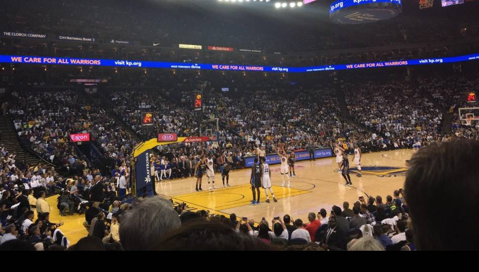 Oracle Arena,  Section <strong>7</strong>, Row <strong>3</strong>, Seat <strong>14</strong>