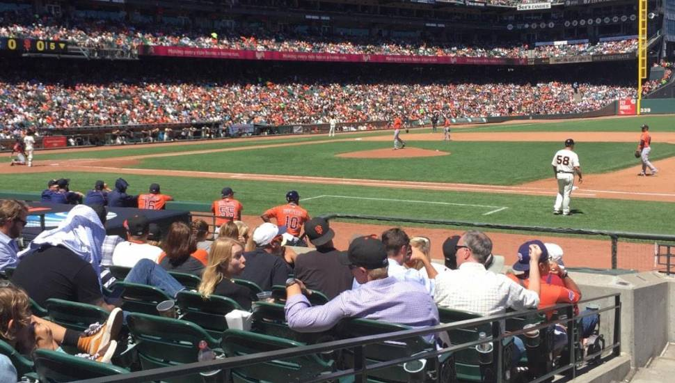 AT&T Park,  Section <strong>140</strong>, Row <strong>8</strong>, Seat <strong>1</strong>