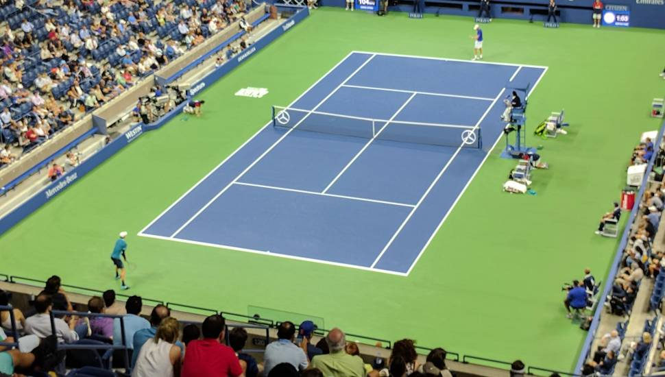 Arthur Ashe Stadium,  Section <strong>14</strong>, Row <strong>2</strong>, Seat <strong>18</strong>