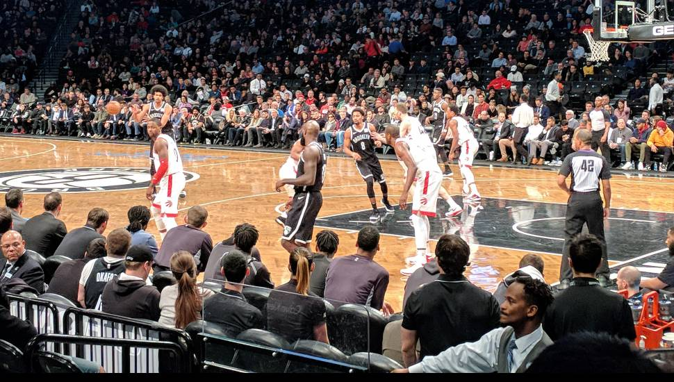 Barclays Center,  Section <strong>6</strong>, Row <strong>A</strong>, Seat <strong>10</strong>