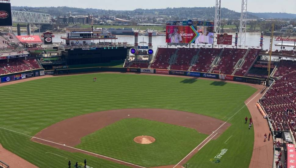 Great American Ball Park,  Section <strong>Club 145</strong>, Row <strong>H</strong>, Seat <strong>12</strong>