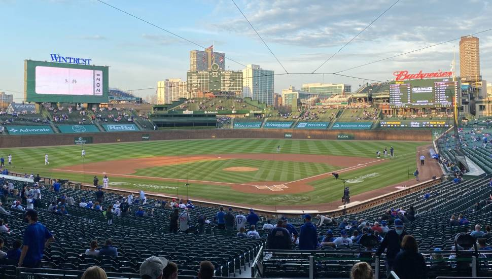 Wrigley Field,  Section <strong>331</strong>, Row <strong>6</strong>, Seat <strong>16</strong>
