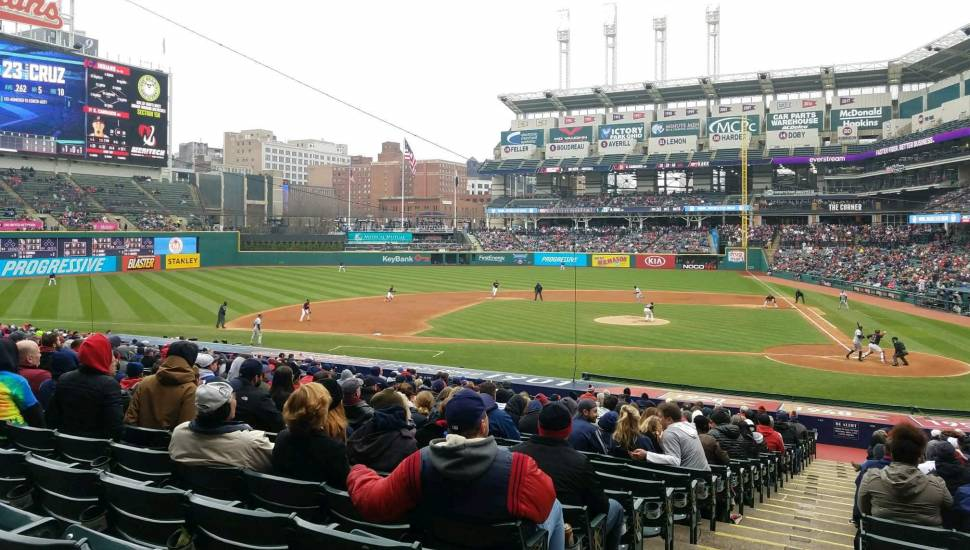 Progressive Field,  Section <strong>Bleacher 42</strong>, Row <strong>7</strong>, Seat <strong>16</strong>