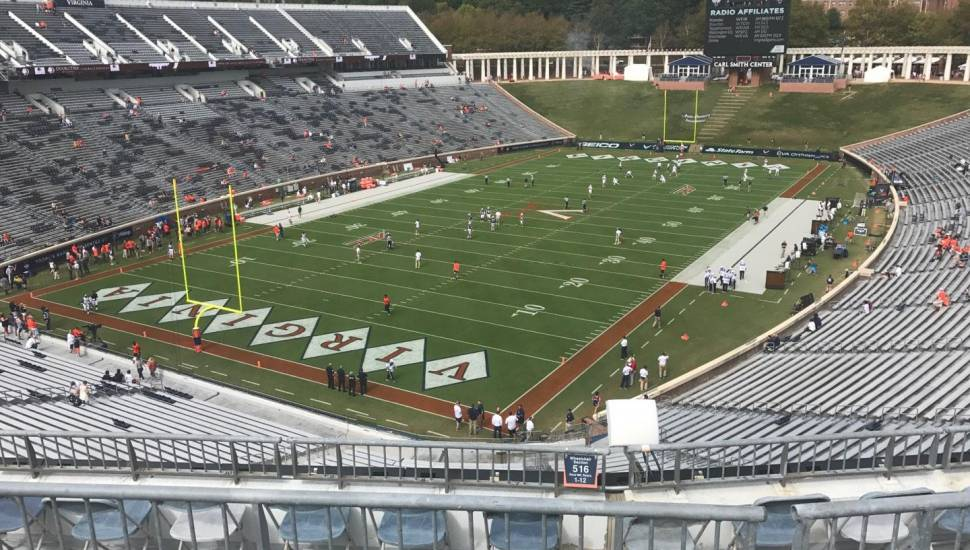 Scott Stadium,  Section <strong>322</strong>, Row <strong>F</strong>, Seat <strong>31</strong>