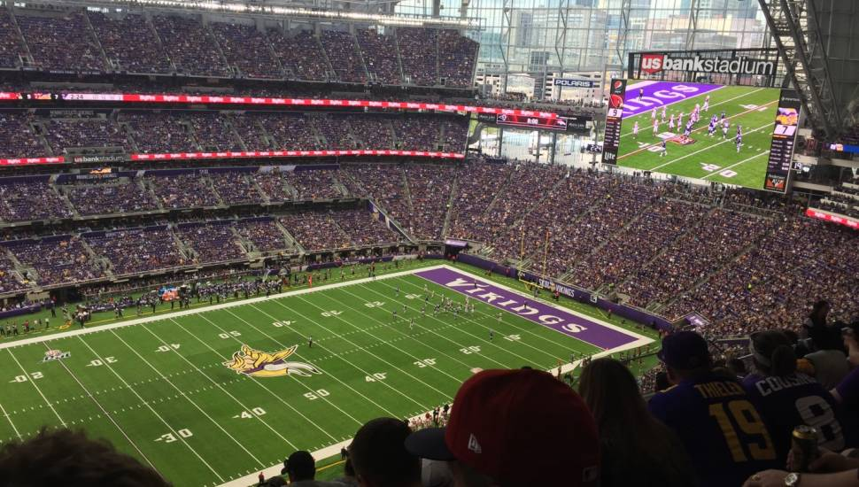 U.S. Bank Stadium,  Section <strong>330</strong>, Row <strong>K</strong>, Seat <strong>3</strong>