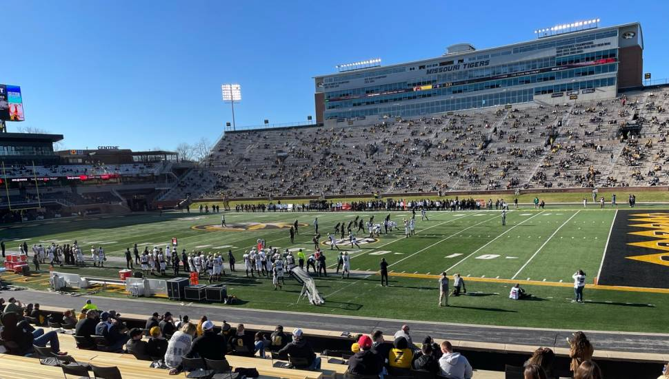 Faurot Field,  Section <strong>313</strong>, Row <strong>P</strong>, Seat <strong>1</strong>