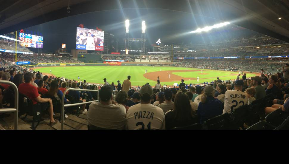 SunTrust Park,  Section <strong>210</strong>, Row <strong>12</strong>, Seat <strong>37</strong>