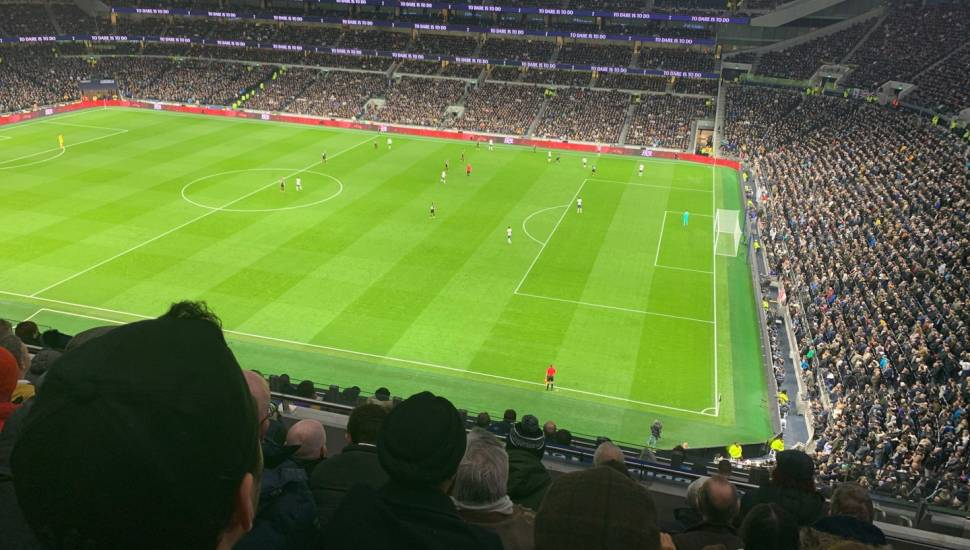 Tottenham Hotspur Stadium,  Section <strong>Pearson M</strong>, Row <strong>40</strong>, Seat <strong>22</strong>