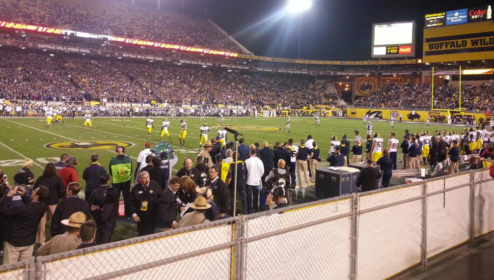 Sun Devil Stadium,  Section <strong>158</strong>, Row <strong>GG</strong>, Seat <strong>15</strong>