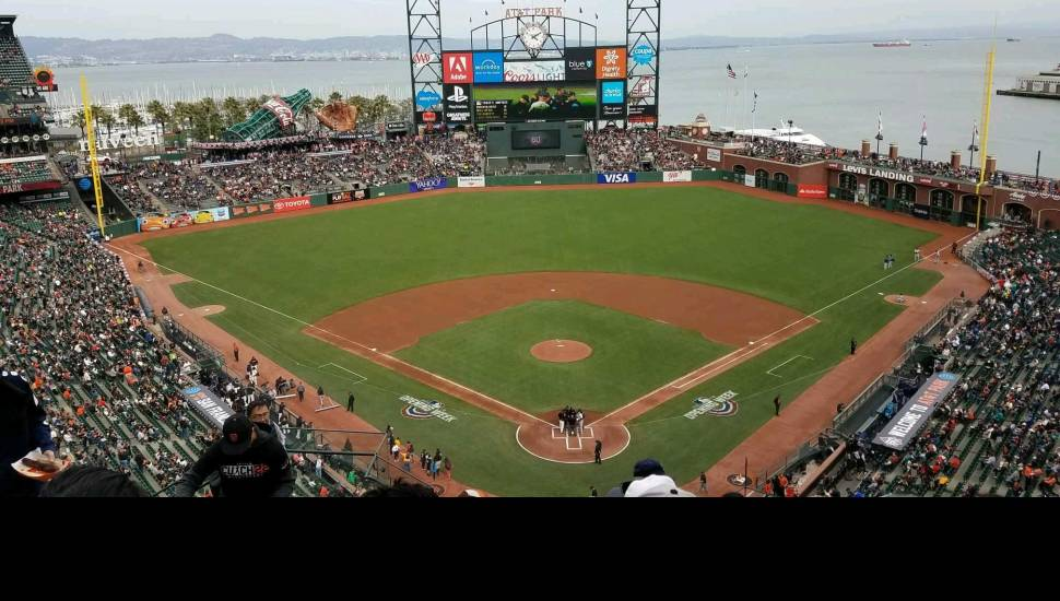 AT&T Park,  Section <strong>416</strong>, Row <strong>17</strong>, Seat <strong>20</strong>